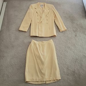 Vintage Yellow Skirt Suit